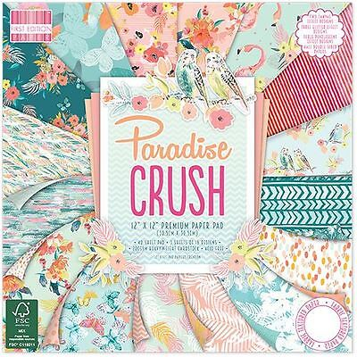 """Premium Craft Cardstock First Edition Paradise 12x12"""" Scrapbook Papers"""