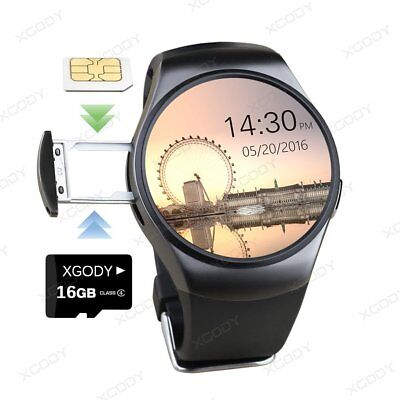 KW18 Waterproof Bluetooth Smart Watch Phone Mate SIM GSM For iPhone Android UK