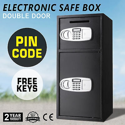 Security Deposit Safe Box Deluxe Electronic Cash Office Digital Keypad Jewelry