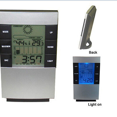 New LCD Digital Thermometer Hygrometer Weather Station Temperature Monitor