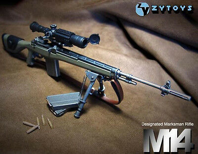 """12"""" Action Figure 1/6 Scale ZY Toy ABS Weapon Model M14 Automatic Sniper Rifle"""