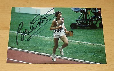BRENDAN FOSTER GENUINE HAND SIGNED AUTOGRAPH 6x4 PHOTO 76 SUMMER OLYMPICS + COA