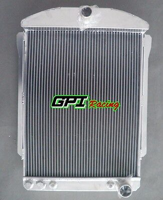 56MM for CHEVY CAR STREET ROD AUTO 1940-1941 40 41 ALUMINUM ALLOY RADIATOR