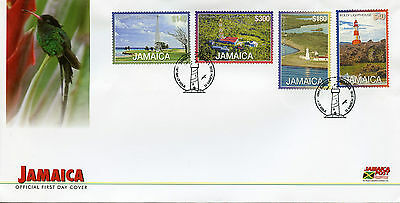 Jamaica 2016 FDC Lighthouses Definitives New Val 4v Set Cover Lighthouse Stamps