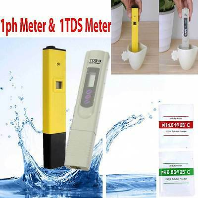 Digital Ph Meter + TDS Tester Aquarium Pool Hydroponic Monitor Water 0-9999 PPM