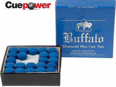 Buffalo Diamond Plus Snooker or Pool Cue Tips 50 Pack Sizes From 9mm to 12mm