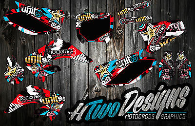 Honda Cr125/250 Graphic Kit 2002 - 2012 Stickers Decal Kit Graphics Cr125 Cr250