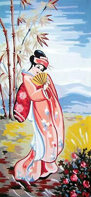 Grafitec Printed Tapestry/Needlepoint Canvas – Rose Geisha
