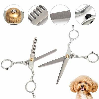PRO Popular Pet Dog Cat Grooming Hair Cutting & Thinning Set Scissors Shears Kit