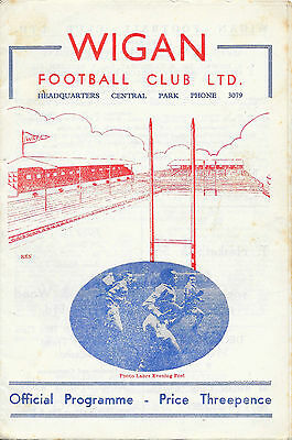 1955 - Wigan v New Zealand, Touring Match Programme