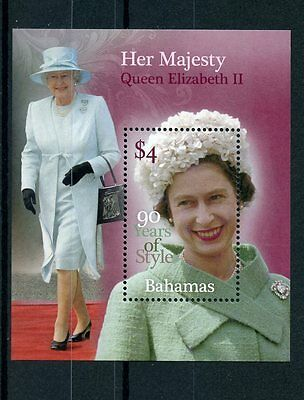 Bahamas 2016 MNH Queen Elizabeth II 90th Birthday 90 Years Style 1v S/S Stamps