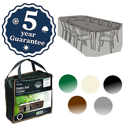 Gardman Deluxe 8-10 Seat Round Rectangle Set Cover Waterproof Furniture 5 Colour
