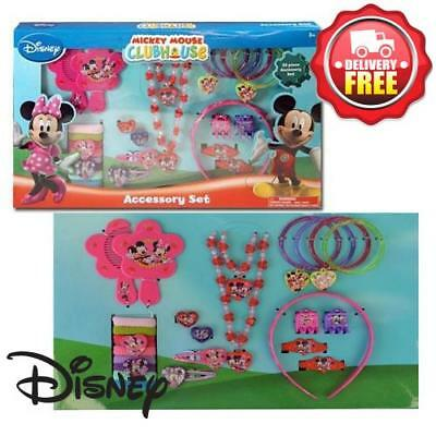 Girls Jewellery Hair Accessories Set Disney Mickey Mouse Minnie Mouse New Licens