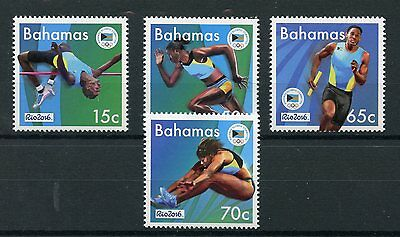 Bahamas 2016 MNH Summer Olympic Games Rio 4v Set Olympics Athletics Stamps