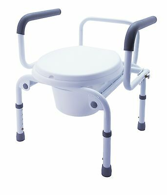 Z-Tec Heavy Duty Bariatric Commode With Swing Down Arms and Height Adjustment