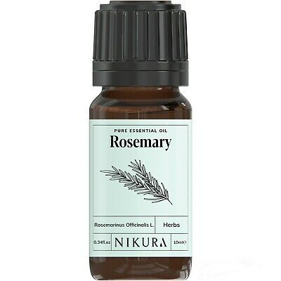 Rosemary Essential Oil 100% Pure - 10ml, 50ml, 100ml, 500ml, 1 Litre Nikura
