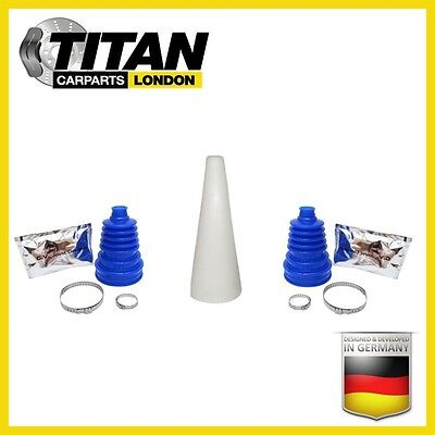 2x Universal CV Joint Boot Blue Silicone Kit Gaiter With Grease Clamps And Cone