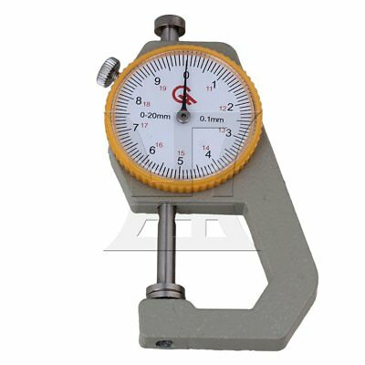 Plate Dial Thickness Gauge Tool 0 to 20mm Silver