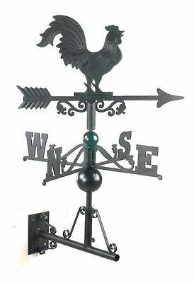 Small Size Black Cast Iron Rooster/Cockeral Weathervane Wind Vane