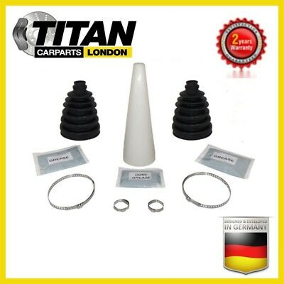 2x Universal CV Joint Boot Kit Gaiter With Grease, Clamps And Cone Brand New