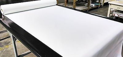 """Marine Vinyl Fabric Classic White 15 Yard Roll Outdoor Car Boat Upholstery 54"""""""