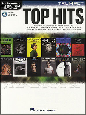 Top Hits Instrumental Play-Along Trumpet Sheet Music Book with Audio Adele