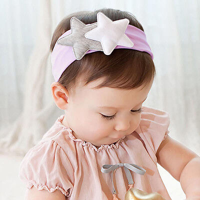 2017 Headband for Kids Girl Elastic Hair Band Baby Star Headwear Headdress