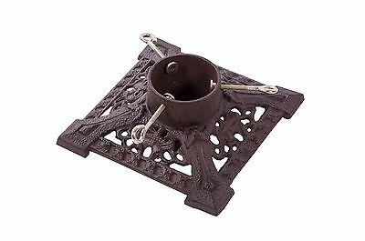 Rustic Cast Iron Square Christmas Tree Stand