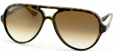 cc9385765a RAY BAN RB 4125 Cats 5000 710 51 Tortoise Plastic Aviator Sunglasses ...