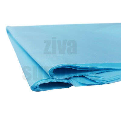 (Baby Blue) TISSUE PAPER SHEETS Acid Free 500mm x750mm 17gsm Packing Gifts Wrap