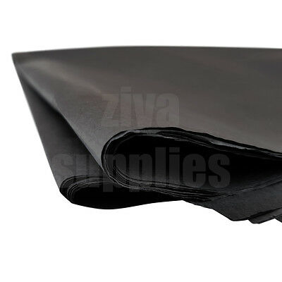 (Black) TISSUE PAPER SHEETS Acid Free 500mm x 750mm 17gsm Pack Gifts Wrapping