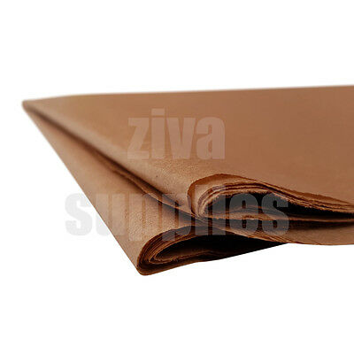 (Brown) TISSUE PAPER SHEETS Acid Free 500mm x 750mm 17gsm Pack Gifts Wrapping