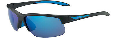 Bolle Breaker Sunglasses - Matt Black/Blue Frame / Polarized Offshore Blue oleo