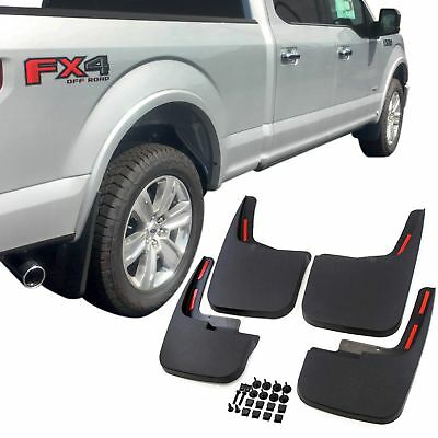 Ford F-150 Mud Flaps 2015-2017 Mud Guards Splash Flares 4 Piece Front & Rear