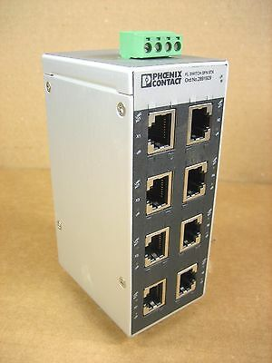 PHOENIX CONTACT  2891929 SFN-8TX Industrial Ethernet FL Switch 8-Port