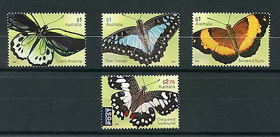 Australia 2016 MNH Beautiful Butterflies 4v Set Swallowtail Insects Stamps