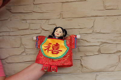 Antique Vintage Chinese Theater Opera Hand Puppet Doll SILK EMBROIDERED