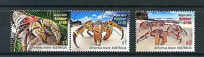 Christmas Island Australia 2016 MNH Robber Crabs 3v Set Crustaceans Stamps