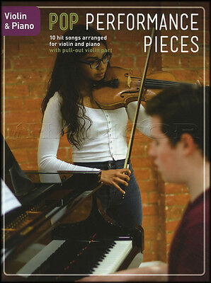 Pop Performance Pieces for Violin & Piano Sheet Music Book Coldplay Adele Elton