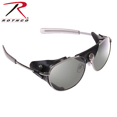 Aviator Sunglasses With Wind Guards Chrome Tactical  20380 Rothco