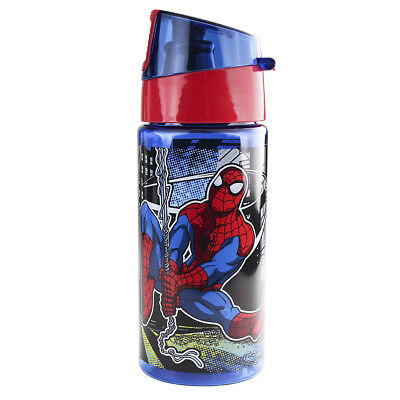 Disney Store Spider-Man Wet Slinging Plastic Water Bottle Pink - 12oz BPA free