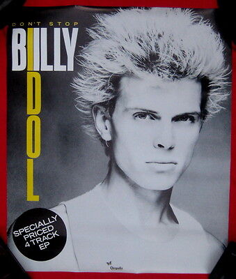 Billy Idol 1981 poster DONT STOP mint condition