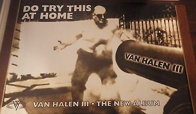 "40x60"" HUGE SUBWAY POSTER~Van Halen III 1998 Do Try This at Home Cannonball Man~"