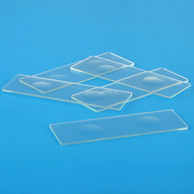 5pcs New 2 Well Concave Cavity Glass Coverslips Microscope Slides 1mm Thickness