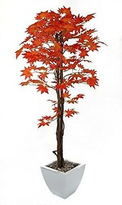 Closer To Nature Artificial 5ft Red Japanese Maple Tree - Artificial Silk Plant