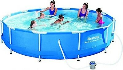 Bestway 56416 12 Ft X 30-Inch Steel Pro Frame Pool Set With Flow Clear Filter