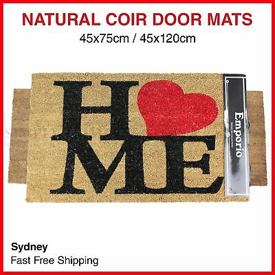 Coir Front Door Mats Large Doormats Outdoor Rugs Non Slip Long 45x75cm 45x120cm