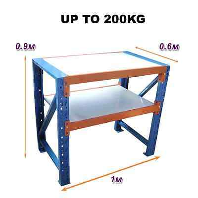 1M x 0.6M New Work Bench Warehouse Garage Metal Steel Storage Shelving Racking