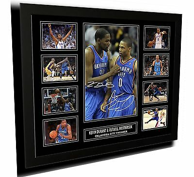 Kevin Durant & Russell Westbrook Signed Limited Edition Framed Memorabilia