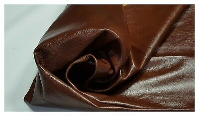 Leather Cow Hide Glossy Chestnut Half Upholstery Crafts Cowhides Sq ft